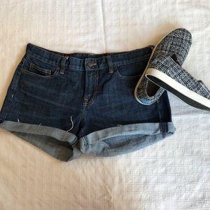 J Crew hipslung fray hem denim shorts size 6